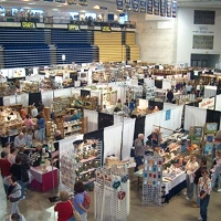 Craft show from above